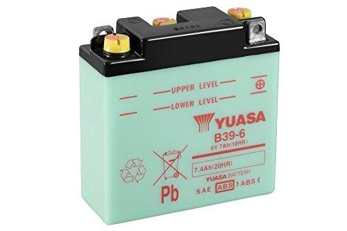 Motorrad Batterie YUASA B39-6, 6V/7AH (Maße: 126x48x126)
