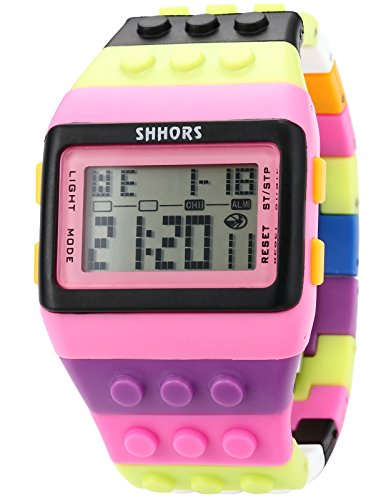 AMPM24 LED088 - Reloj Digital Unisex, Correa de Silicona, Multicolor, LED, Deportivo