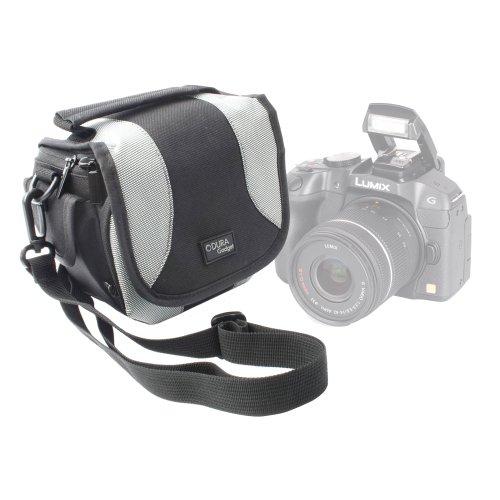 DURAGADGET Bolso Negro Y Gris para Cámara Kodak AZ421, AZ526, FZ201, FZ151, FZ52, FZ42, FZ53, FZ43 y Leica C (Typ 112)