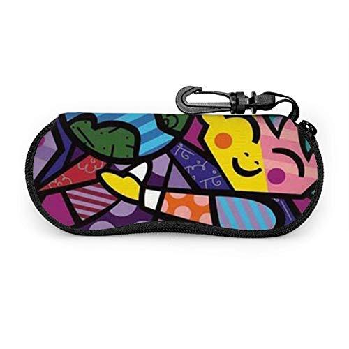 Cartoon tekening kinderen zonnebril soft case ritssluiting brillenkoker beschermhouder met riemclip