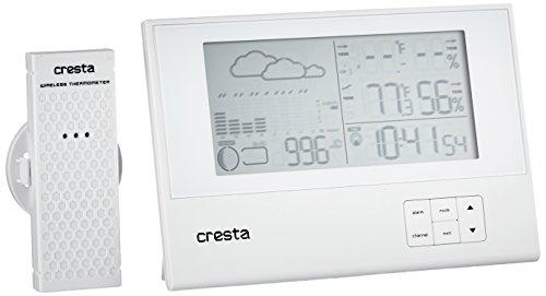 Cresta, BAR700WT draadloze barometer Weerstation Ultra Plat (Wit)