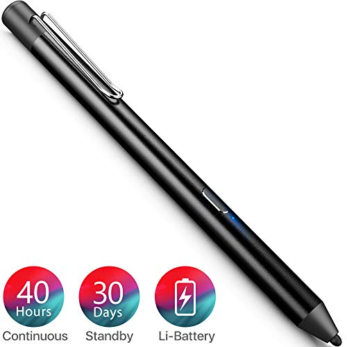 Heiyo Active Stylus Pens Supporting 40 hrs Playing Time 30-Day Standby...