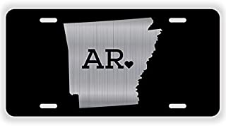 JMM Industries Arkansas State Love AR ♥ Vanity Novelty License Plate Tag Metal 12-Inches by 6-Inches Etched Aluminum UV Resistant ELP047