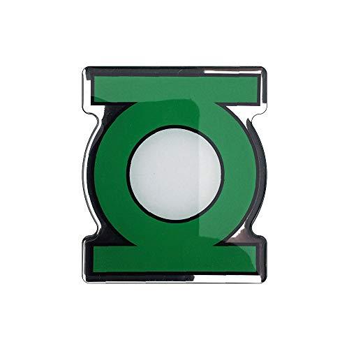 Fan Emblems Green Lantern Logo Auto Aufkleber gewölbt/schwarz/grün/weiß/verchromt, DC Comics Automotive Emblem Gilt leicht für Autos, LKW, Motorräder, Laptops, Handys, Fast Alles