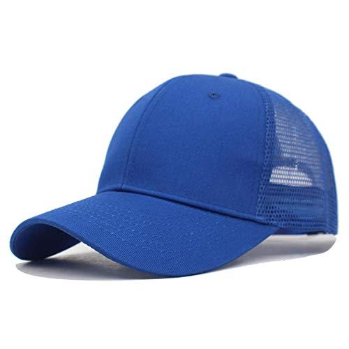 ZHXMI Mode Sommer Männer Baseball Cap Frauen Snapback Stickerei Mesh Cap Mützen für Männer Gorras Hombre Casual Cap Dad Baseball Hut-dunkelblauer Feststoff