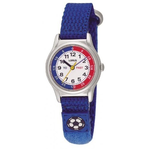 Lorus RG261AX9 Children's Blue Fabric Strap Time Teacher Analogue Watch