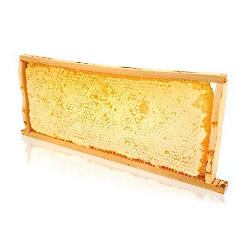 ImkerPur® Honigwabe mit Akazien-Honig, 2,2 kg, im traditionellen Holzrähmchen, wertet jedes Buffet auf, nicht nur im Restaurant oder Hotel