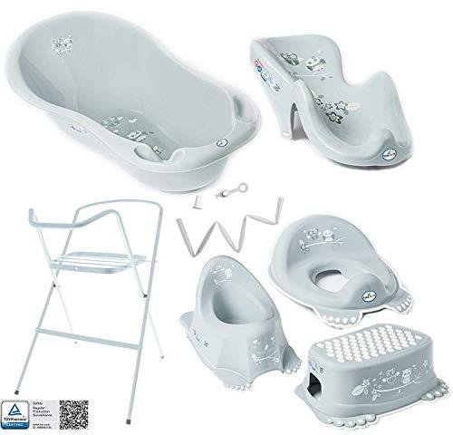 Bañera de bebé con marco y asiento de baño - Diferentes j