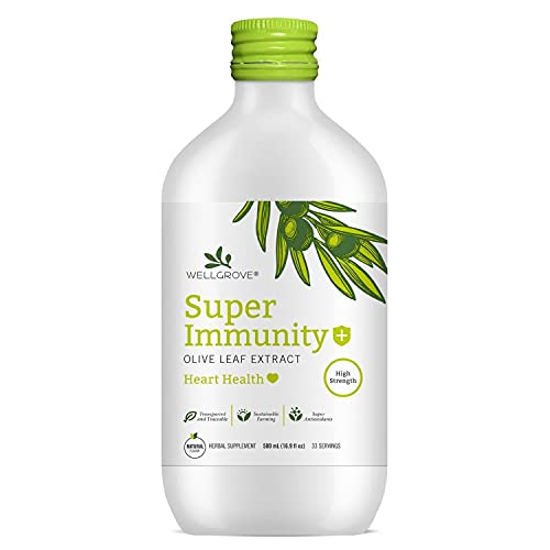 WellGrove Immunity Booster Olive Leaf Extract with Heart...