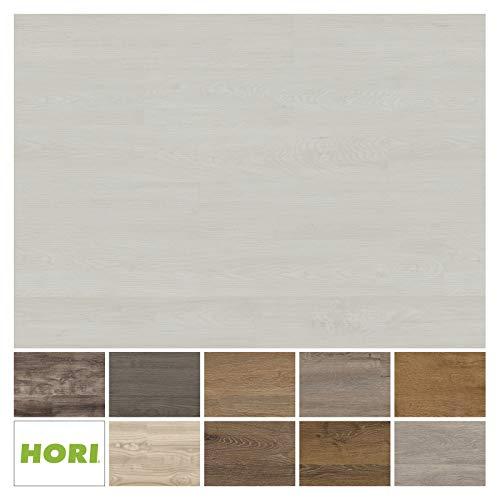 HORI® Klick Vinylboden PVC Bodenbelag I Wasserfest I viele Dekore wählbar I Eiche Basic Bremen I 16 Dielen im Paket = 2,25 m²