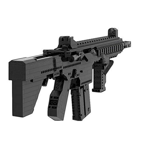 Dellia Technic Gun Building Set 900pcs Shootable Simulación HK416 Rifle Gun Modelo Militar Armas Arma Juegos de Construcción Modelo Juguetes, Compatible con Lego