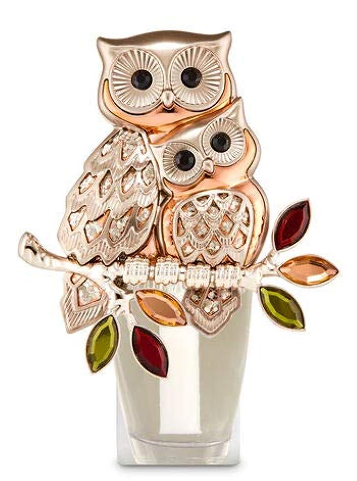 災害迷信レジ【Bath&Body Works/バス&ボディワークス】 ルームフレグランス プラグインスターター (本体のみ) オウルズ ナイトライト フクロウ Wallflowers Fragrance Plug Owls Night Light [並行輸入品]