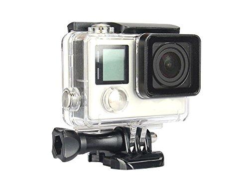 Goliton® Agua Densidad bajo agua Carcasa Funda Protección Funda Carcasa con objetivo para GoPro Hero 33+-Transparente