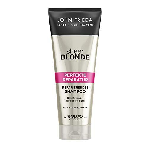 John Frieda Sheer Blonde Perfekte Reparatur Shampoo - 1er Pack (1 x 250 ml) - nährt und repariert geschädigtes Blond - mit Seidenproteinen und Reismilch