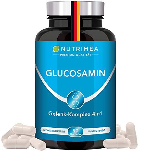 Glucosamin & Chondroitin Hochdosiert + MSM + MANGAN | Einmalige Gelenk-Komplex FORTE PLUS 4in1 Kombi | Gelenkkapseln für gesunde Gelenke, Knochen, Knorpel, Bindegewebe Kapseln Gegen Gelenkschmerzen