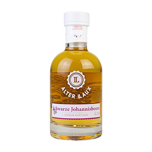 Alter LAUX Schwarze Johannisbeere Spirituose 40%, Milder Johannisbeer Schnaps Obstbrand, 200ml