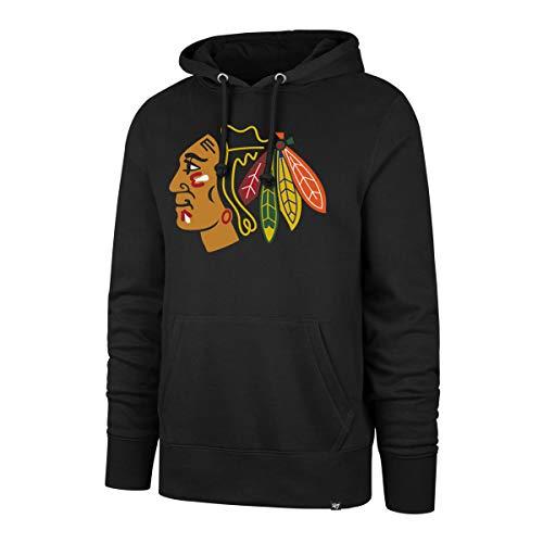 47 Brand Chicago Blackhawks Headline NHL Hoodie Sweatshirt Schwarz, XL