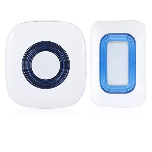 Draadloze beveiligingsbewegingssensor, PIR-bewegingsdeurbel met 52 muziek, mini-deurbel Bouw blauwe LED-verlichting voor slechthorenden voor thuis(EU)