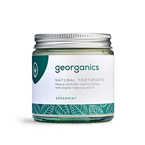 Georganics natürlich biologische Kokosölzahnpasta- grüne Minze 120 ml/Remineralizing Natural Organic Coconut Oil Toothpaste - Spearmint 120ml