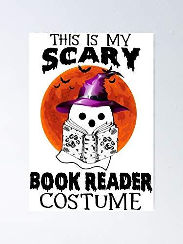 AZSTEEL Póster de Halloween con texto en inglés 'This Is My Scary Book'