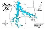 Stockton Lake, Missouri: Standout Wood Map Wall Hanging