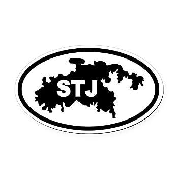 CafePress St John s STJ Map Oval Car Magnet Euro Oval Magnetic Bumper Sticker
