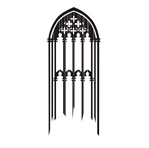 Gotisches Fenster 56X134Cm Kunst Zitat Wandaufkleber, Pvc Vinyl Material Wandtattoo, Abnehmbare Diy Handwerk, Home Decor Wasserdichte Tapete Wallposter