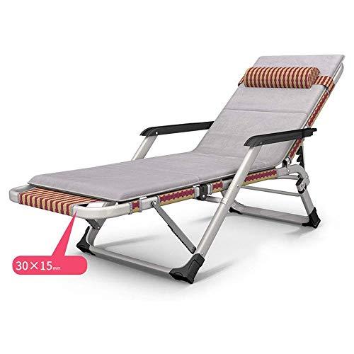XIAOHE Höhenverstellbarer Büro Chaiselongue Stühle Zusammenklappbar Metallstühle (Color : No pad)
