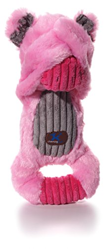 Charming Pet Peek-A-Boos Pig Plush Squeaky Squeeze-Action Dog Toy