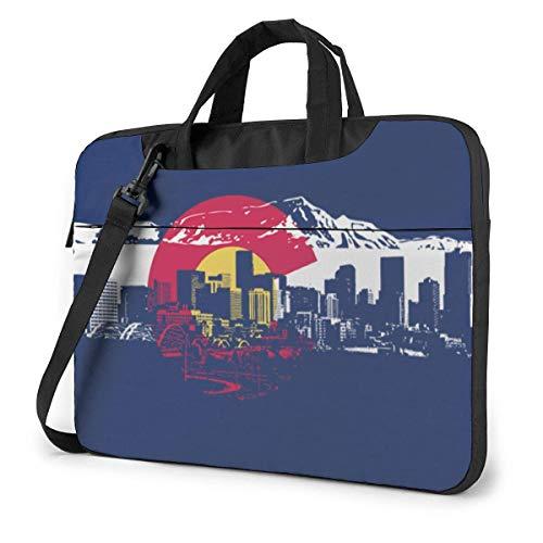 15.6 inch Laptop Shoulder Briefcase Messenger Colorado State Flag Art Tablet Bussiness Carrying Handbag Case Sleeve