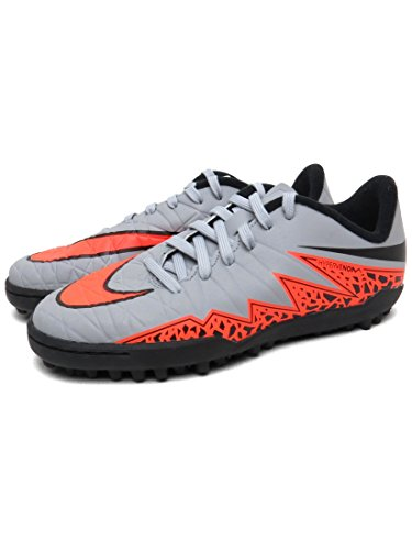 Nike JR Hypervenom Phelon II TF Wolf Grey/TOTAL ORANGE-BLK-BLK - 35,5