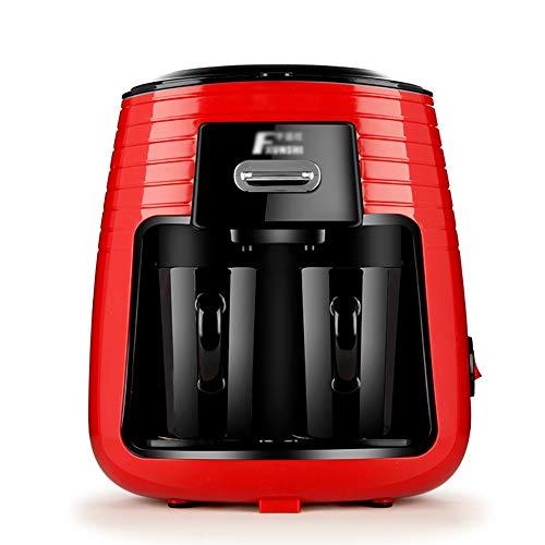 Macchina Per Caffè Americano MD-235 Caffettiera Americano Mini 2 Tazze Macchina Per Il Caffè Automatica Da Viaggio Con 2 Tazze In Ceramica Sistema Antigoccia 250ml 450W Rosso