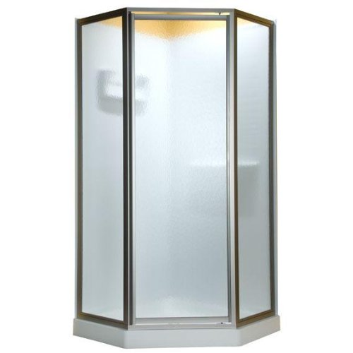 c16fa30a4e6 American Standard AMOPQF2436 Neo Angle Tall Framed Hammered Glass Shower  Door
