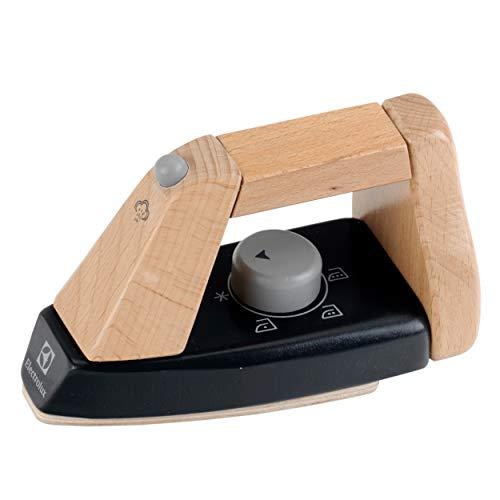 Theo Klein 7403 Elektrolux Bügeleisen, Holz I Maße: 15,5 cm x 7,3 cm x 9,5 cm I Spielzeug für Kinder ab 3 Jahren