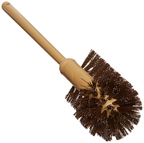 Rubbermaid Commercial 17 Inch Toilet Bowl Brush, Plastic Handle, Polypropylene Fill, Brown (FG632000BRN)