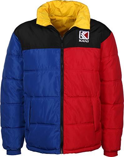 Karl Kani Retro Reversible Puffer Winter Jacket BlueredYellowBlack