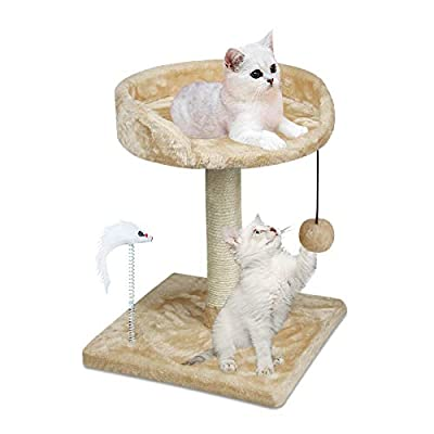 YUFU Cat Tree and Towers Kitten Small Cat Tree with Large Platform and Natural Sisal Scratching Posts for Kitten Playing Relaxing Sleeping