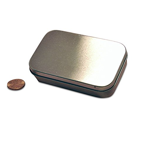 Best Prices! Medium Hinged Steel RecTurquoiseular Tin Can | Quantity: 432 | Width: 2 3/8 Width 2 5/...