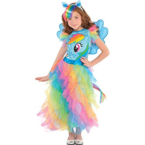 Suit Yourself Rainbow Dash Halloween Costume, My Little Pony, Medium, Includes Dress, Headband, Wings, and Tail