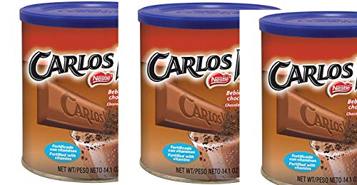 Carlos V Chocolate Flavored Drink Mix, 14.1 oz(pack of 3)