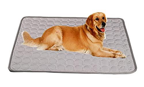 YBBT hundedecke kühlend,Selbstkühlende Matte für Hunde und Katze,hundekühlmatten,waschbar,weich und atmungsaktiv kühlmatte für Hunde Grau (150*100cm)