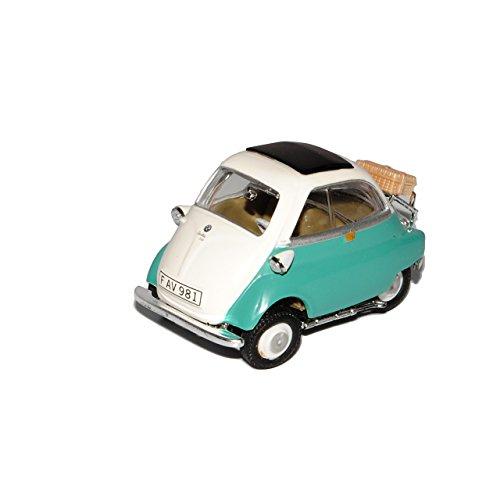B-M-W Isetta 250 Grün Weiss 1955-1962 1/43 Cararama Modell Auto mit individiuellem Wunschkennzeichen
