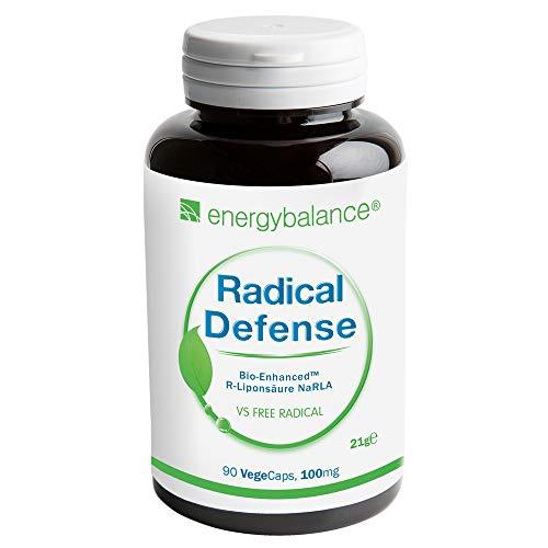 Radical Defense R-Lipoic Acid NaRLA 100mg - Antiossidante - 100% di qualità pura - Alta Biodisponibilità - Vegan - OGM Free - S