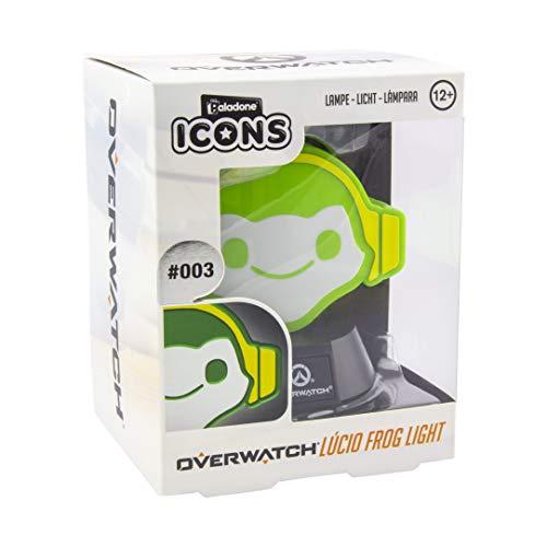 Paladone Overwatch Icon Light | Coleccionable Lucio Lámpara | Ideal para dormitorios de niños, Oficina y hogar | Pop Culture Gaming Merchandise, Verde