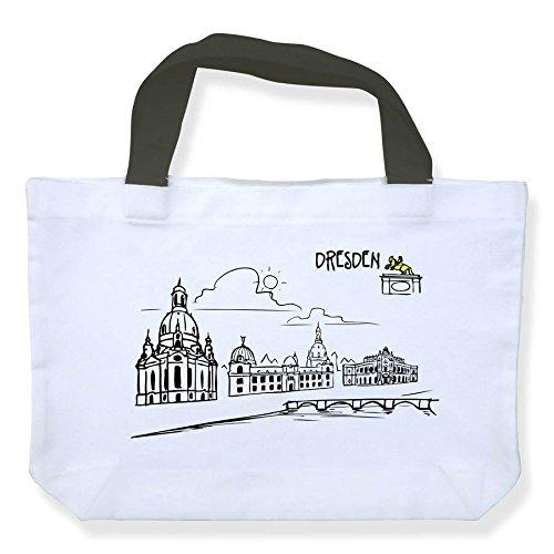 Einkaufstasche Skyline Dresden - als Geschenk für Dresdner & Fans von Elbflorenz oder als Dresden Souvenir - die stadtmeister