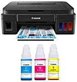 Canon G3000 All-in-One Ink Tank Colour Printer with Color Ink Bottles-Cyan Magenta, Yellow