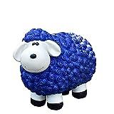 Geschenkestadl Dekofigur Schaf blau Bunte Schafe Tier Figuren für Haus und Garten