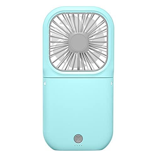 JIEPPTO Mini Ventilador Portátil, Recargable USB, Refrigerador De Aire De Escritorio Ajustable De Mano, 3 Velocidades del Viento, Usadas En Muchas Ocasiones (Kolor : Blue)