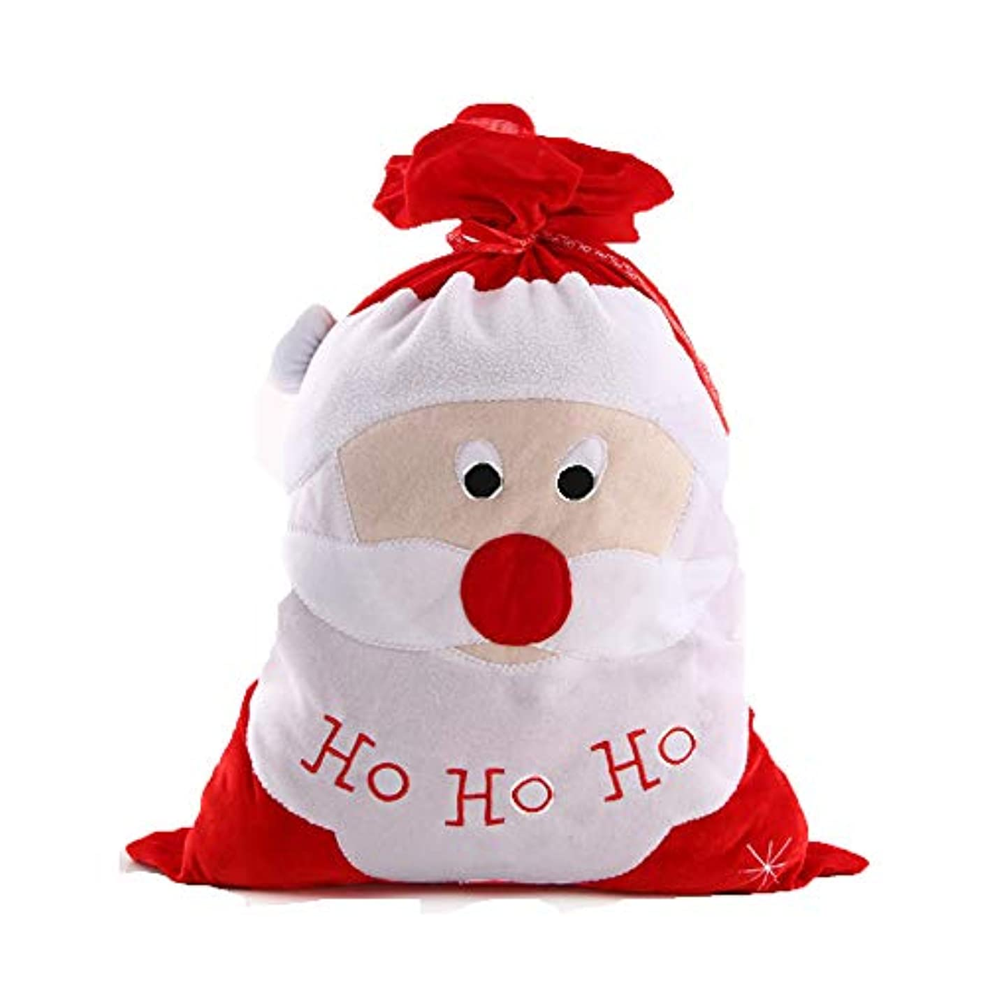 SCHOLMART Christmas Gift Bags, Santa Claus Belt Pattern Snack Big Christmas Present Bags Large Pocket for Family Kids Home Party Decorations (Santa Claus, Big Face)