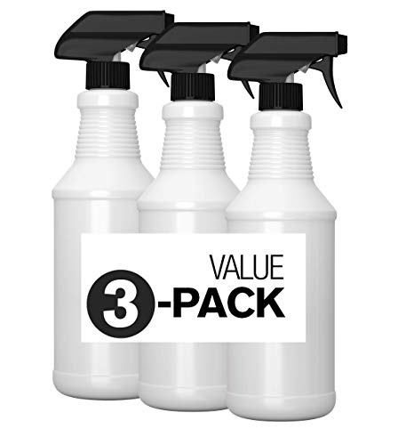 Exterminators Choice 3 Pack 16 oz Natural HDPE Plastic Spray Bottles with Adjustable Sprayers